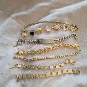 Vintage gold plated bracelets
